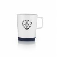 Porcelain coffee mug blue