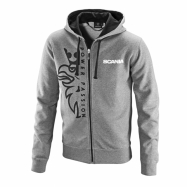 Basic zip hoodie with Griffin print grey