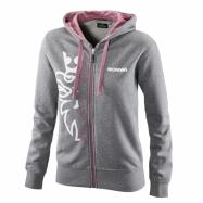 W Basic zip hoodie grey