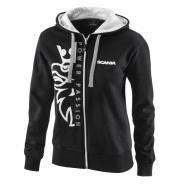 W Basic zip hoodie black