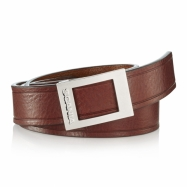 Women's leather belt brown