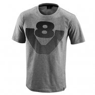 Big V8 T-Shirt Grey
