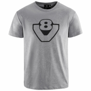 Basic V8 T-shirt (grau)