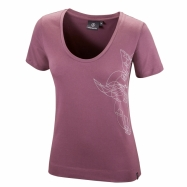 Slim 3D Griffin T-shirt (plum)