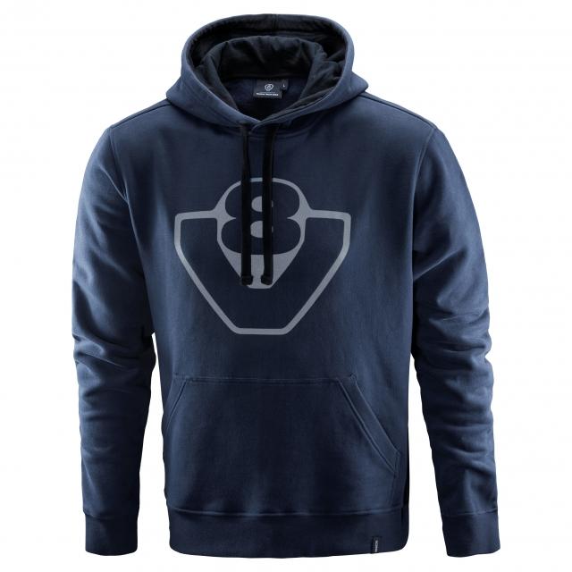 basic v8 hoodie navy kapuzenpullover scania schweiz ag. Black Bedroom Furniture Sets. Home Design Ideas