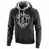 Basic hoodie whit Vabis print black