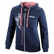 Basic Cropped Griffin Zip Hoodie (navy)